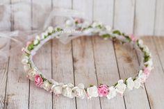 Bridal headpiece Wedding Flower Crown Wedding by LuckyKidsHandmade