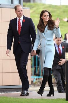Catherine, Duchess of Cambridge and Prince William, Duke of Cambridge visit Pembroke Refinery in Pembroke, Wales. 08 November 2014
