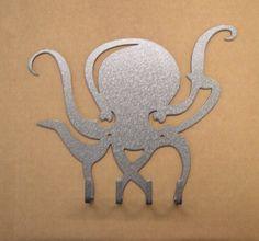 On Sale - Octopus Metal Art Key Rack - Free USA Shipping