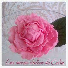Las mesas dulces de Celia: Peonía de pasta de azúcar