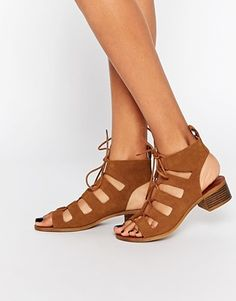 New Look Lace Up Flat Sandal