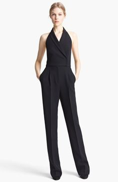 Valentino Cady 'Tuxedo' Halter Jumpsuit available at #Nordstrom