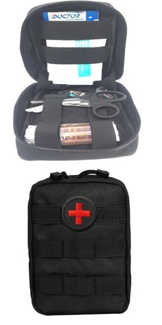 [Visit to Buy] 103Pcs/Pack First Aid Kit Outdoor Wilderness Black Mini First Aid Pouch Medical Bag Military First Aid Kits Survival Kit Hiking  #Advertisement