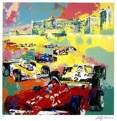 "LeRoy Neiman..""Grand Prix, Caesar's Palace"""