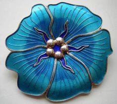 Arne Nordlie Designer Jewelry, Jewelry Design, Enamels, Enamel Jewelry, Silver Enamel, Blue And Silver, Vintage Designs, Denmark, Norway