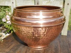 Vintage French Copper Planter. Antique by AngelFrenchAntiques