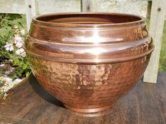 Vintage French Copper Planter. Antique Planter. Art Deco. Copper Pan. Flower…