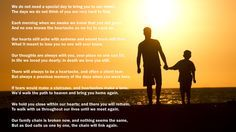 Poem about death of a father. www.eulogycoach.com