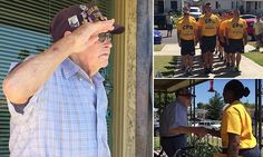 Touching video of Pearl Harbor survivor being honored at his home