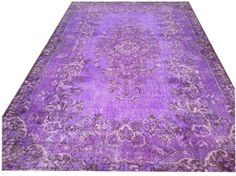 9'3 x 5'9 Vintage Dark PURPLE Overdyed Recolored by chicethnic, $385.00