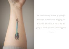 arrow tattoo meaning... i like it