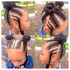 Kiddie Styles Cornrows Braids - Impressive Ideas Hairstyles for Little Black Girl Lil Girl Hairstyles, Girls Natural Hairstyles, Natural Hairstyles For Kids, Kids Braided Hairstyles, My Hairstyle, Natural Hair Styles, Black Hairstyles, Layered Hairstyles, Children Hairstyles