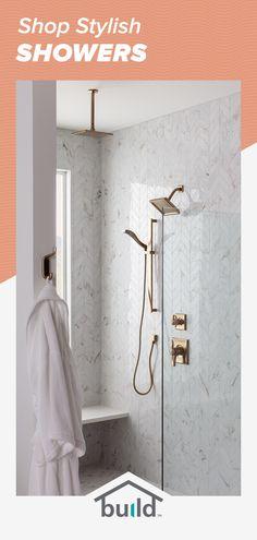 Bathroom Renos, Bathroom Renovations, Master Bathroom, Bathroom Ideas, Bathroom Marble, Bathroom Shelves, Bathroom Organization, Bathroom Storage, Master Bath Remodel