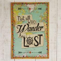Not All Who Wander Natural Life Art Print - Favorite quote - #wishhappy #naturallife