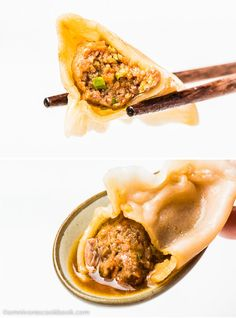 Mom's Best Lamb Dumpling - These soupy lamb dumplings are irresistible! The recipe can be used for cooking boiled dumplings and potstickers   omnivorescookbook.com