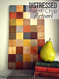 Make art from paint chips from East Coast Creative.
