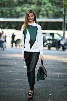 Tilda Lindstam after Jil Sander, Milano, September 2013 - Models Jam