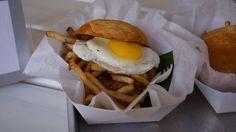 Chorizo Batido with Sunny Side Up Egg at Frita Batidos in Downtown Ann Arbor