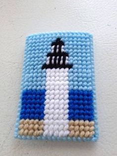 Items similar to Plastic Canvas Gift Card Holder Lighthouse needlecraft,gift card holder,money holder,party favors SET OF TWO on Etsy Plastic Canvas Coasters, Plastic Canvas Crafts, Plastic Canvas Patterns, Lighthouse Gifts, Gift Cards Money, Coaster Crafts, Tissue Box Covers, Yarn Crafts, Kids Crafts