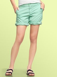 Gap | Mint colored Boyfriend roll-up shorts.  Summery!