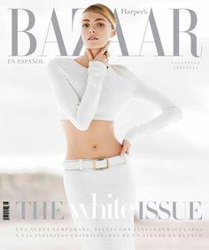 Valentina Zelyaeva for Harper's Bazaar (mexico) jan/14 | Magazine Cover: Graphic Design, Typography, Photography | Photo: Hans Neumann |