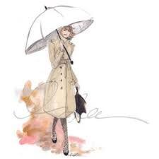 Résultats de recherche d'images pour « femme fashion parapluie illustration »