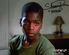 "Shavar Ross Signed Friday the 13th Part 5 ""Reggie the Reckless"" Autograph"