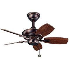 """30"""" Kichler Canfield Bronze Indoor Outdoor Ceiling Fan"""