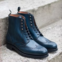 www.patine.shoes Handmade Leather Shoes, Leather Men, Leather Boots, Brogues, Loafers Men, Mens Shoes Boots, Men's Shoes, How To Dye Shoes, Men's Wedding Shoes