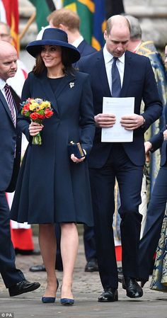 The Duke and Duchess of Cambridge leave following the service... #katemiddleton #princewilliam #williamandkate