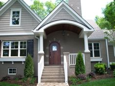 Brick and siding: Sherwin-Williams 7025 Backdrop, Shake and accent ...
