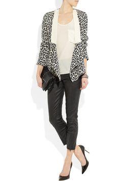 3.1 Phillip Lim Leopard-print silk crepe de chine blazer