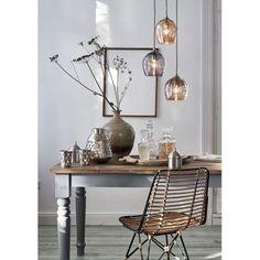 Teelichthalter-Set, 2-tlg., Handarbeit, Stanzmuster, modern, Eisen Vorderansicht
