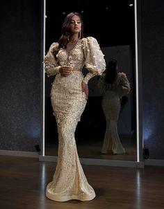 Elegant Wedding Dress, Wedding Dresses, Long Sleeve Evening Dresses, Wedding Gallery, African Fashion, Gowns, Formal Dresses, Fashion Design, Outfits