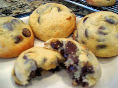 Banana Chocolate Chip Cookies I just made these and they are super delicious!!