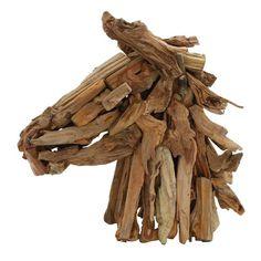 Driftwood Horse Head Bust #birchlane