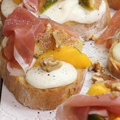 Fig Recipes, Brunch Recipes, Summer Recipes, Vegetarian Recipes, Healthy Recipes, Prosciutto Crudo, Gourmet Sandwiches, Snacks Für Party, Aesthetic Food