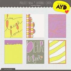 Free Project Now Journal Cards from Amanda Yi Designs {on Facebook}
