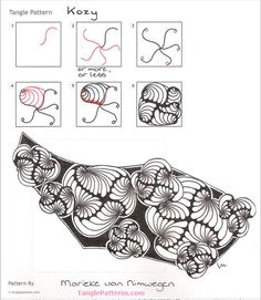 How to draw KOZY « TanglePatterns.com