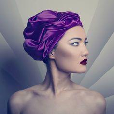 BINT THANI Folds & Folds Turban - Purple