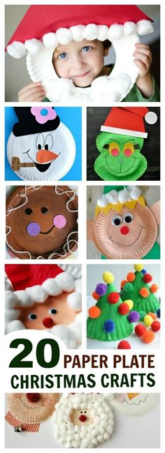 Holiday Paper Plate Crafts What can you make with a paper plate ? So many things! Here, you will find a collection of utterly adorable holiday crafts for kids , all made using pap… Holiday Crafts For Kids, Christmas Activities, Xmas Crafts, Christmas Fun, Fun Crafts, Google Christmas, Christmas Island, Christmas Crafts Paper Plates, Spring Crafts