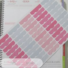 Section Headers-Pinks-Grey Planner Stickers by PrettylilPlanners