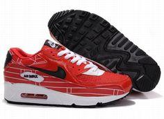 https://www.kengriffeyshoes.com/nike-air-max-90-varsity-red-white-black-p-783.html Only$68.99 #NIKE AIR MAX 90 VARSITY RED WHITE BLACK #Free #Shipping!
