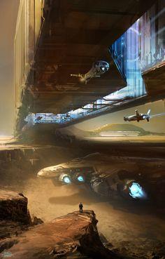 Inner Bridge, sparth - nicolas bouvier on ArtStation at http://www.artstation.com/artwork/inner-bridge