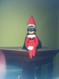 elf on the shelf idea #batman #elfontheshelf
