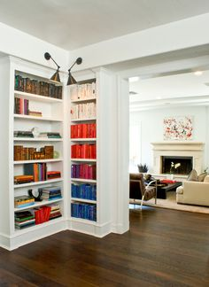 Wendy Haworth Design - Interior Designer - West Hollywood - Eclectic - Gallery - Art - Display - Shelving - Bookcase - Books - Rainbow - White Color Scheme - Rainbow - Bold
