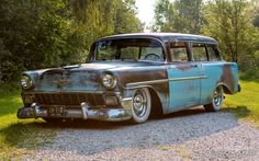 1956 Chevy 150 handyman wagon like nomad 600 bhp supercharged LS air ride hotrod 2001 Ford Mustang, 1956 Chevy Bel Air, Smart Roadster, Beach Wagon, Chevy Nomad, Rusty Cars, Air Ride, Station Wagon, Old Cars