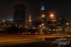 Cleveland, Ohio as viewed from the Shoreway.  In the Line of Traffic by At Land's End Photography, via Flickr