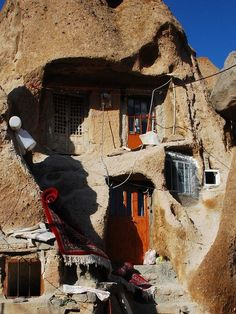Iran: The village of Kandovan, just outside Tabriz city, is a settlement of troglodyte homes carved out of partially-eroded rocks. It is claimed by locals that Kandovan sits geographically in the original place of the Garden of Eden.