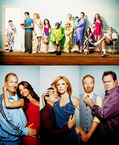 Modern Family. One big (straight, gay, multi-cultural, traditional) happy family.